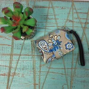 Thirty One wristlet wallet in peacock paisley